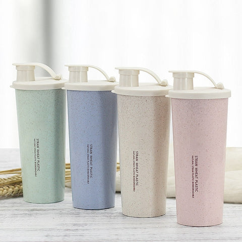 Wheat Straw Shaker Water Bottle