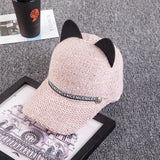 Cat Ears Knitted Hat