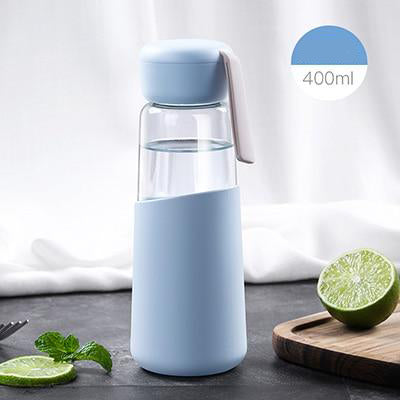 Silicone Isolation Glass Water Bottle