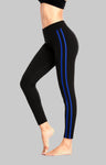 Mid Waist Striped Leggings