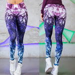 Geometric Violet Push Up Leggings