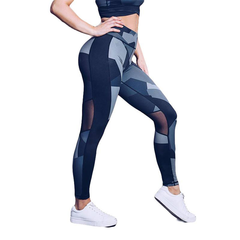 Geometric Camo Mesh Leggings