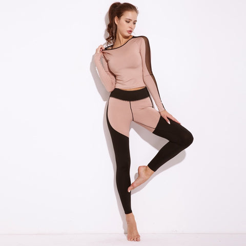 Mesh Splicing Women's Set