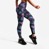Neon Flower Fitness Leggings