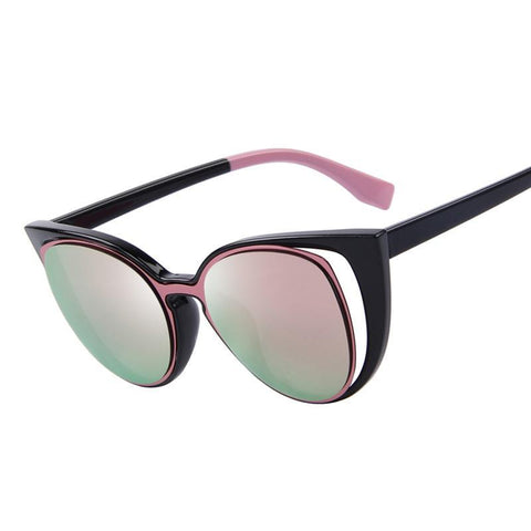 Retro Pierced Cat-eye Sunglasses