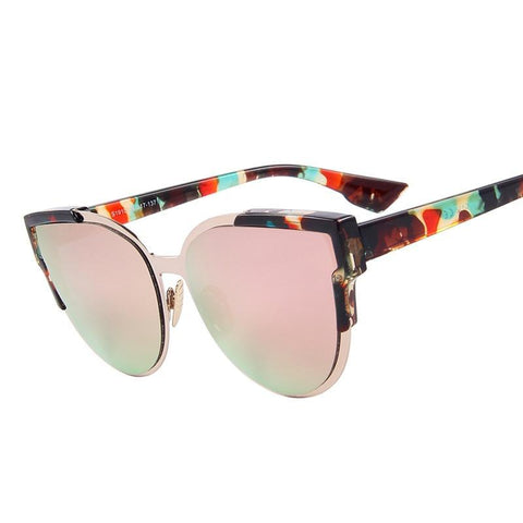 Cat-eye Mirror Sunglasses