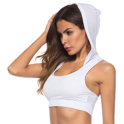 Push Up Sports Bra Hoodie