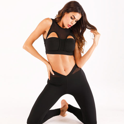 Mesh Patchwork Fitness Sets
