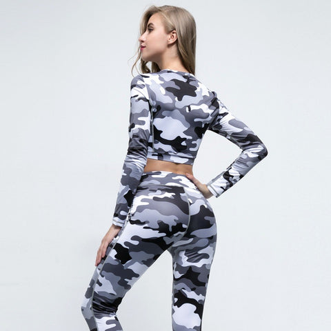 Camouflage Fitness Set