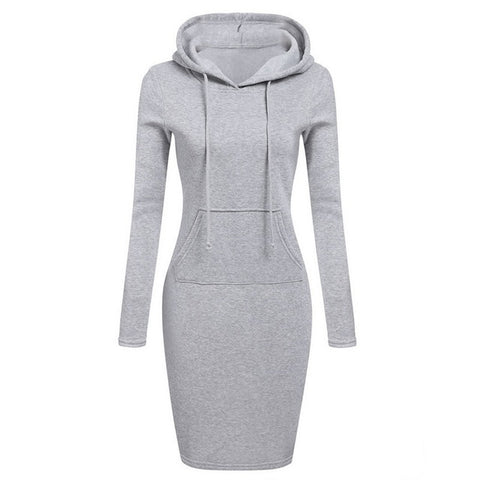 Casual Hoodie Dress