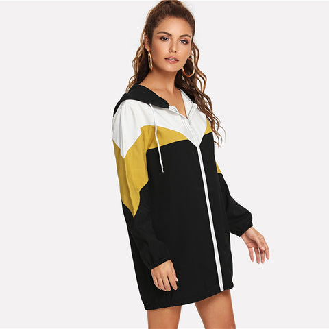 Zip Up Hoodie Dress