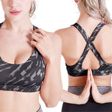 Abstract Camo Sports Bra