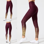 High Waist Gold Glitter Leggings