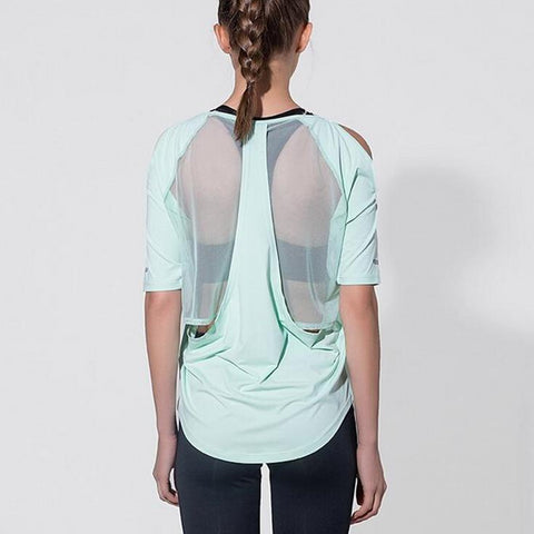 Mesh Back Fitness Shirt