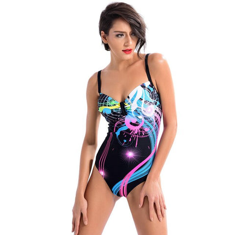 Neon Mess Onepeace Swimsuit