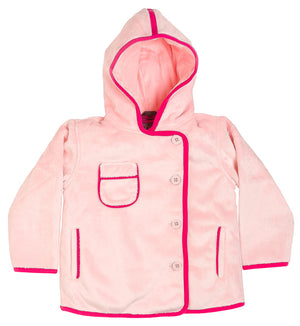 Traveler Jacket in Blush with Magenta Piping