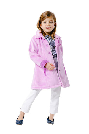 Party Coat in Lilac with Eyelet Trim