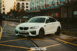 white bmw m2 carbon bumper trims winglets
