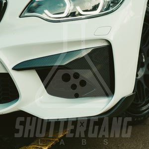 BMW M2 F87 Pure Carbon Fibre Front Bumper Trims