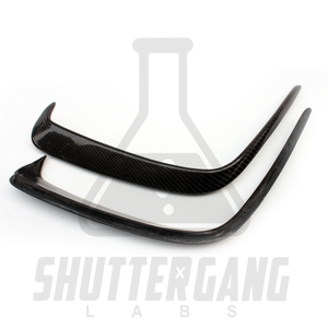 Mercedes A Class W176 Rear Bumper Areo Trims ABS / Carbon Fibre