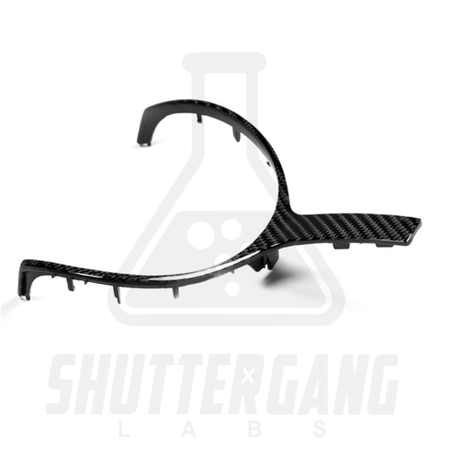 BMW Carbon Fibre Steering Wheel Trim for BMW F Series M Sport