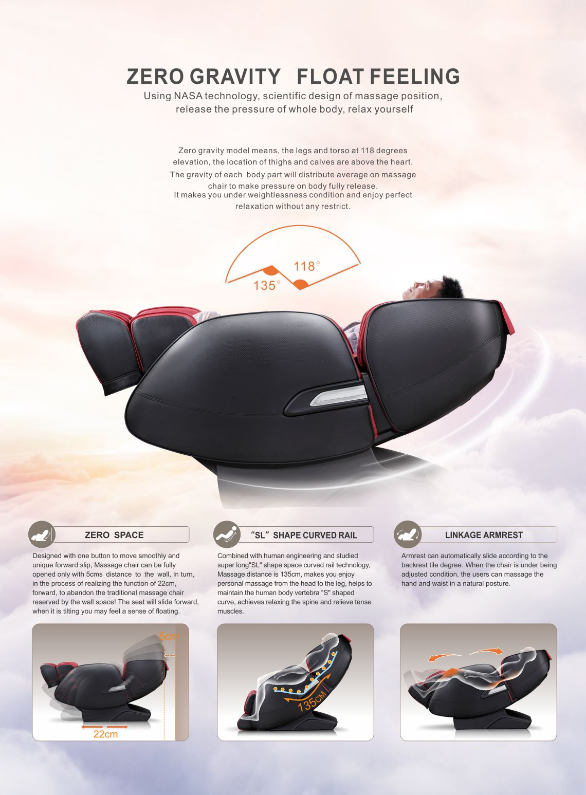 iRest Massage Chair SL-A389-2 Luxury Massage Chair Zero Gravity Float Feeling