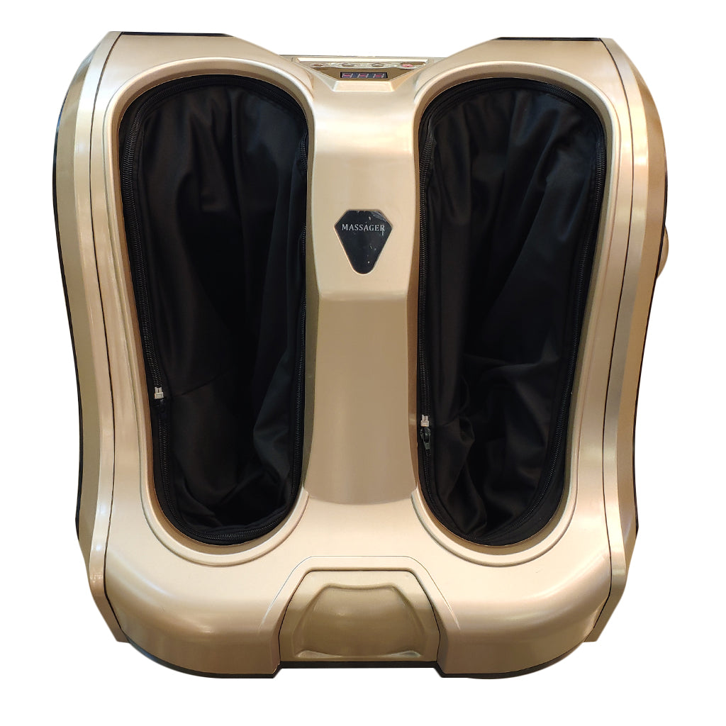 Bodycare Leg and Foot massager Simulated hand massage and foot roller golden color M008