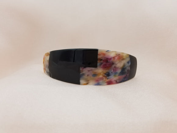 Light Weight Cellulose Printed Large Barrette - in 8 colors