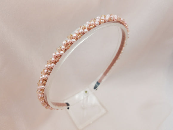 Color Matching Cute Small Pearls Fitting Headband - in 5colors