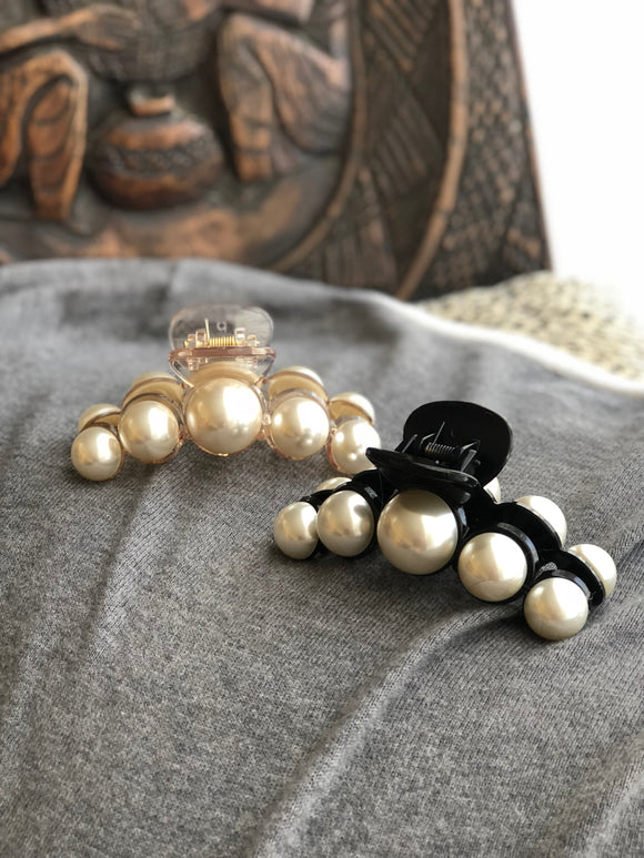 Light Weight Large Pearl Cellulose Jaw Hair Clip (2 colors)