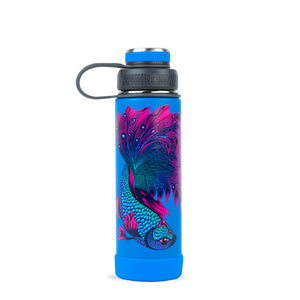 THE BOULDER - Insulated Water Bottle w/ Strainer - 20 oz - Phil Lewis Artist Series