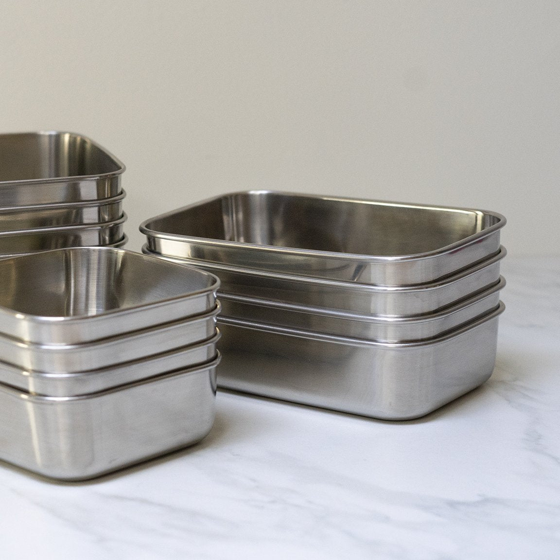 Divided Stainless Steel Rectangle Containers