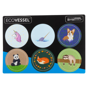 Reflecta Dual Top Lid Stickers - Animals