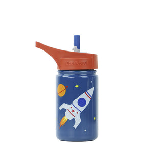 THE SCOUT - Stainless Steel Straw Water Bottle For Kids - 13 oz