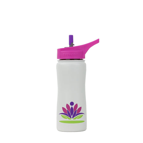 THE SURF - Glass Straw Water Bottle - 22oz