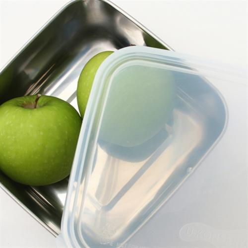 stainless steel food container, waste free lunch, leak proof, BPA free, reusable food container lid