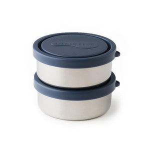 Round Stainless Steel Containers Small (Set of 2)