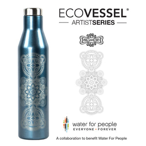 The Artist Series ASPEN - Insulated Stainless Steel Water & Wine Bottle - 25 oz