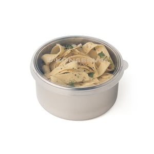 Round Stainless Steel Container with Silicone Lid