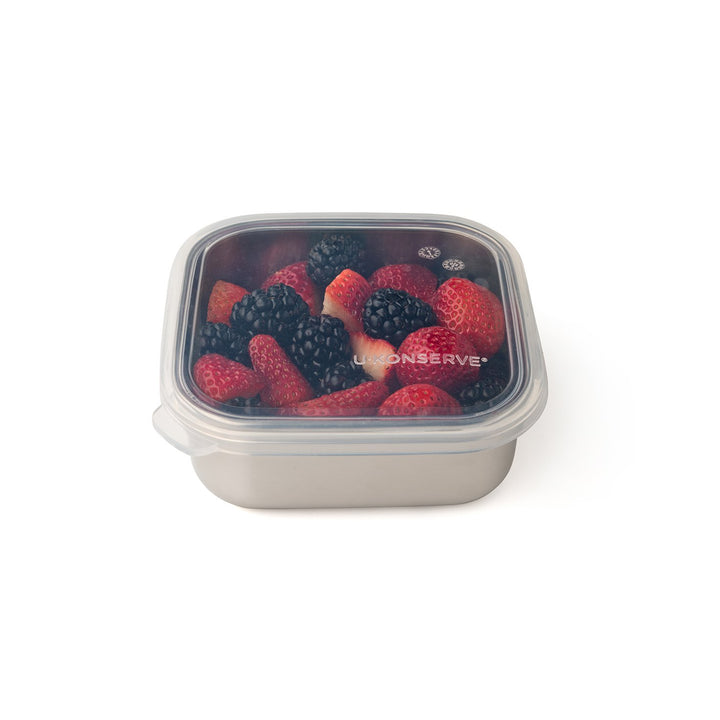 Square Stainless Steel To-Go Container with Silicone Lid