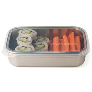 Rectangle Stainless Steel Container with Silicone Lid