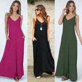 Adjustable strap maxi dress