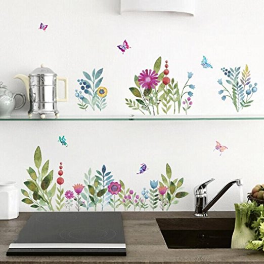Colorful Flowers Wall Stickers
