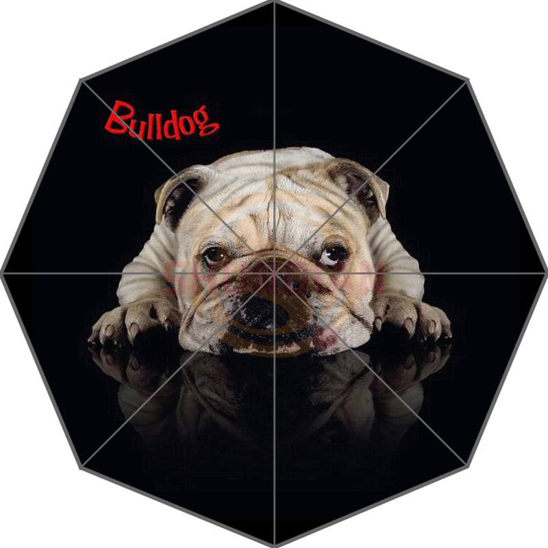 Custom Bulldog Foldable Umbrella