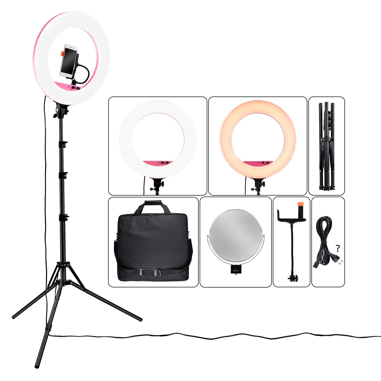 Dimmable LED Vanity Studio Ring Light 22 Inches With Remote Control