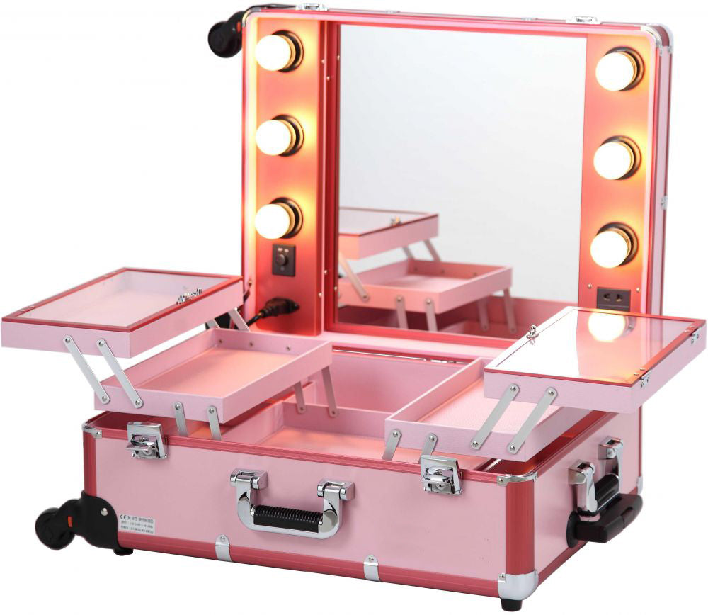 Pro Studio Artist Makeup Train Case with Lights - Ballet Slipper