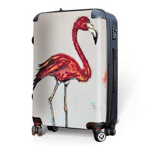 Flamingo - Singular Luggage Custom Luggage and Backpacks.  Design your own artwork decoration.