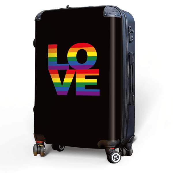 a RAINBOW of LOVE - Singular Luggage Custom Luggage and Backpacks.  Design your own artwork decoration.