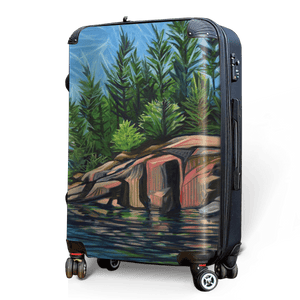 Rocky Shores - Singular Luggage Custom Luggage and Backpacks.  Design your own artwork decoration.