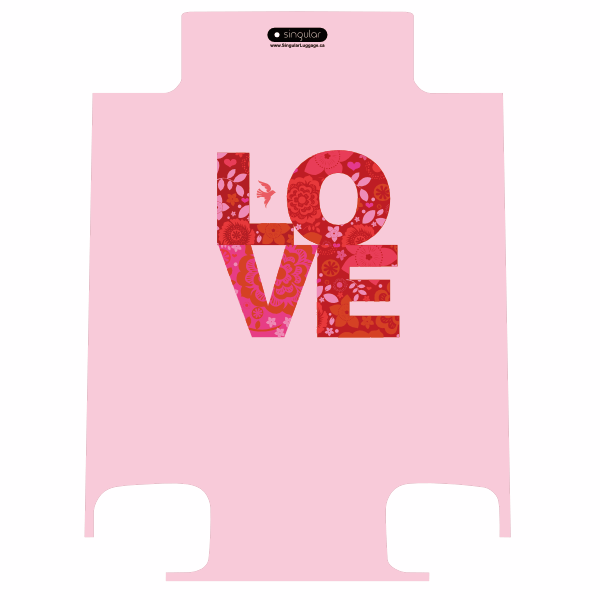 LOVE - Singular Luggage Custom Luggage and Backpacks.  Design your own artwork decoration.
